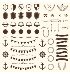 Collection of shields badges and labels design vector
