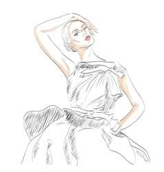 Model fashion vector