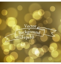 Stock blurred texture with bokeh effect and ribbon vector