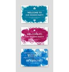 Set of invitation to wedding card collection in vector