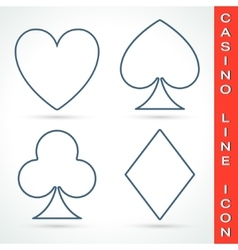 Casino line icon vector