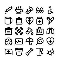 Medical and health icons 10 vector