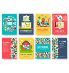 Business elements cards set marketing template of vector