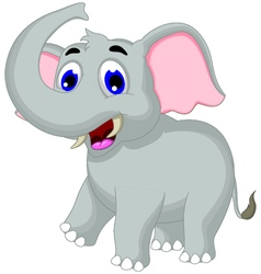 Cute elephant cartoon for you design vector