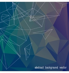 Abstract Color Triangle Background vector image vector image