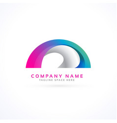 Abstract shape logo concept vector