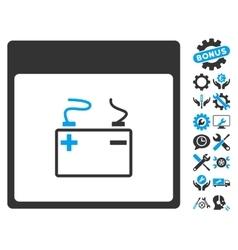 Accumulator calendar page icon with bonus vector
