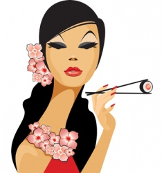 asian beauty vector image