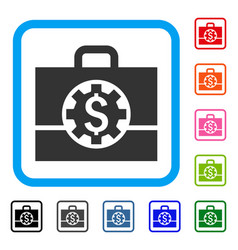 bank career options framed icon vector image vector image