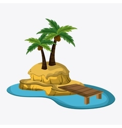 Beach design Palm tree icon Colorful vector image vector image