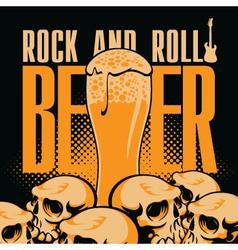 Beer and rock n roll vector