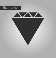 Black and white style icon diamond vector