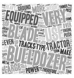 Bulldozer text background wordcloud concept vector