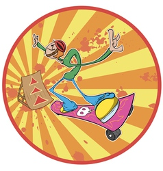 cartoon skateboarder vector image vector image