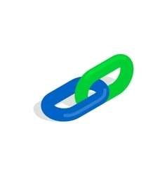 Chain link icon in isometric 3d style vector image vector image