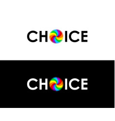 colorful choice symbol vector image