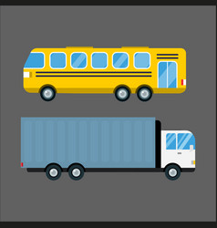 delivery transport cargo truck vector image