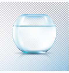 Fish bowl clear water transparent vector