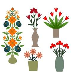 Flower vases vector