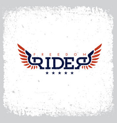 freedom rider label vector image