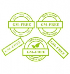 gmfree green stamps vector image vector image