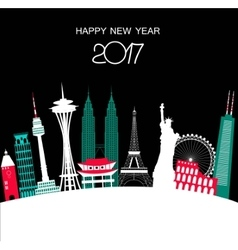 Happy new year travel background vector