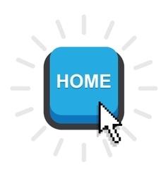 home button icon vector image
