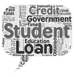 Key benefits of private student loans text vector
