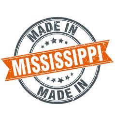 Mississippi orange grunge ribbon stamp on white vector