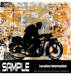 motorcycle travels vector image vector image