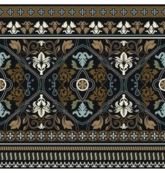 Paisley seamless pattern Ornamental border vector image