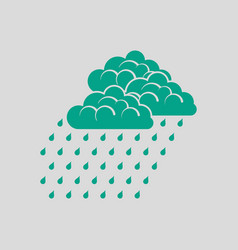 rainfall icon vector image vector image