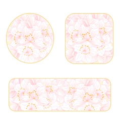 Sakura banners and buttons with a flowers i vector