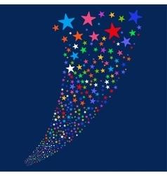 Star salute fountain vector