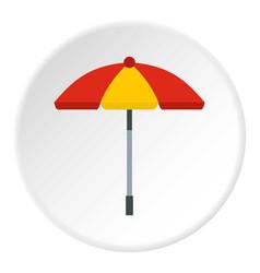 Sun umbrella icon circle vector