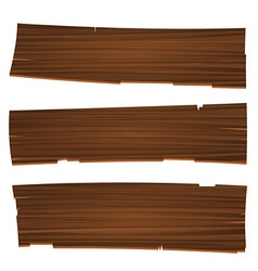 Three Old Planks vector image