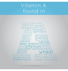 Vitamin A info-text background vector image