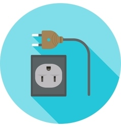 Wire and Plug vector image