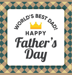 worlds best dad vector image vector image