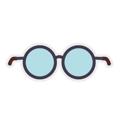 Glasses frame traditional fashion icon vector