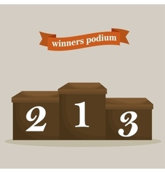 Championship podium numbers icon vector