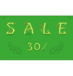 Inscription sale thirty percents vector