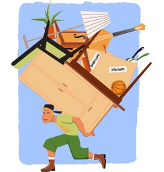Mover guy vector
