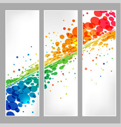 set banners splash colored round element vector image