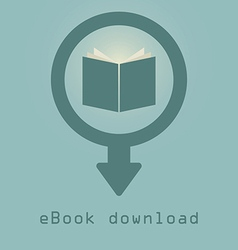 Downloading e books icon vector