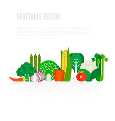 Fresh vegetables concept vector