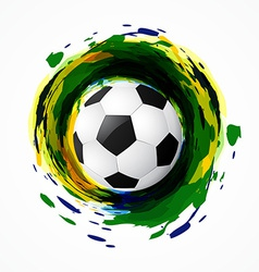 Dirty soccer game vector