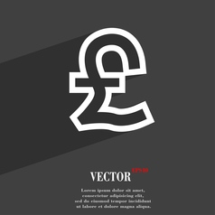 Pound sterling icon symbol flat modern web design vector