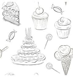 seamless sweet sketch vector image