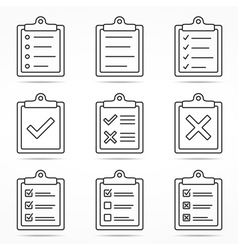 Clipboard icons vector